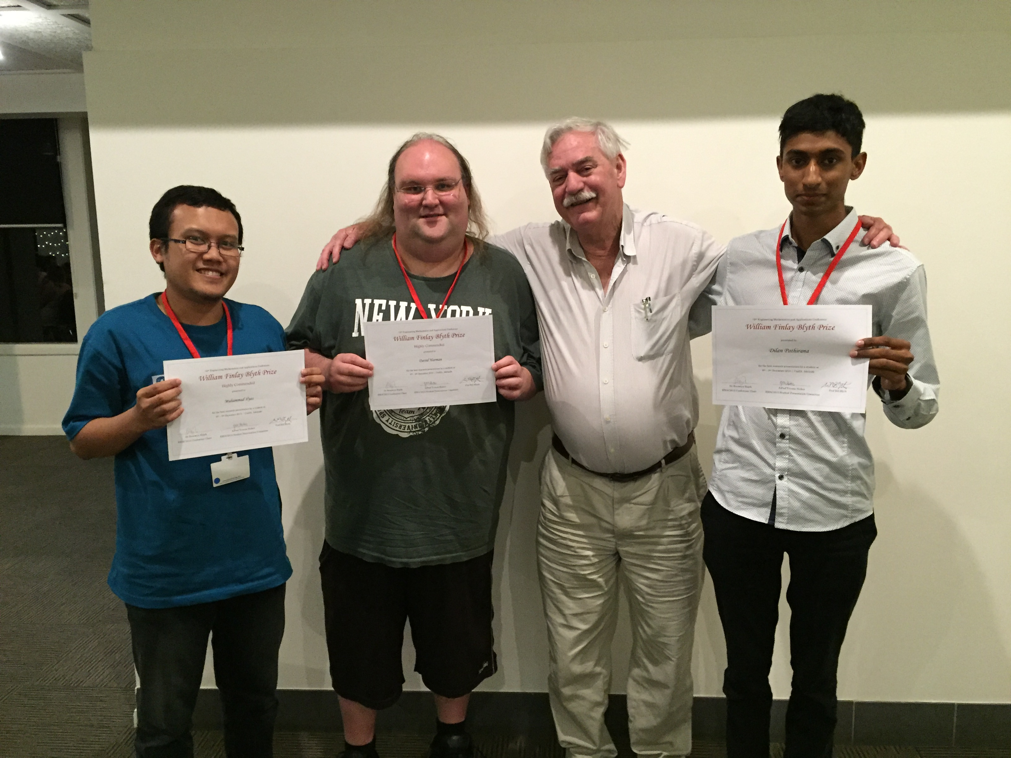 Student prize winners, Adelaide 2015.